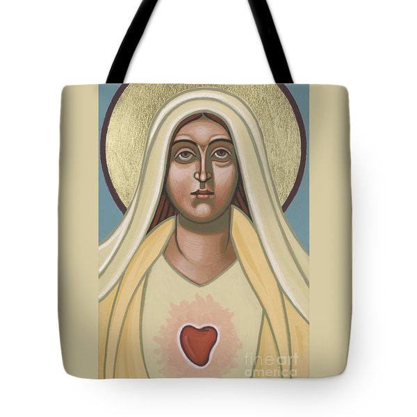 Tote Bag featuring the painting Heart Of The Mother 252 by William Hart McNichols