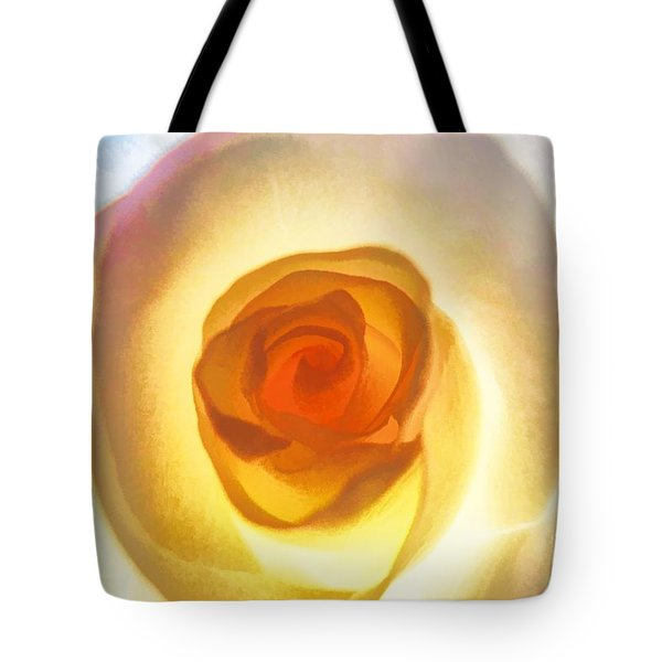 Heart Of The Rose Tote Bag by Peggy Hughes