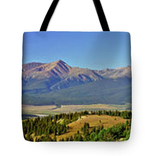 Heart Of The Sawatch Panoramic Tote Bag by Jeremy Rhoades