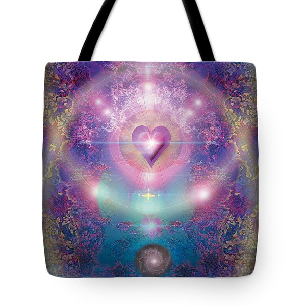 Heart Of The Universe Tote Bag by Alixandra Mullins
