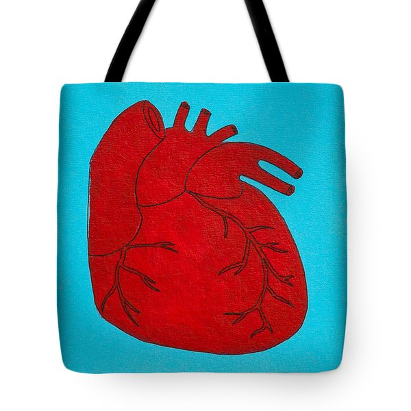 Heart Red Tote Bag by Stefanie Forck