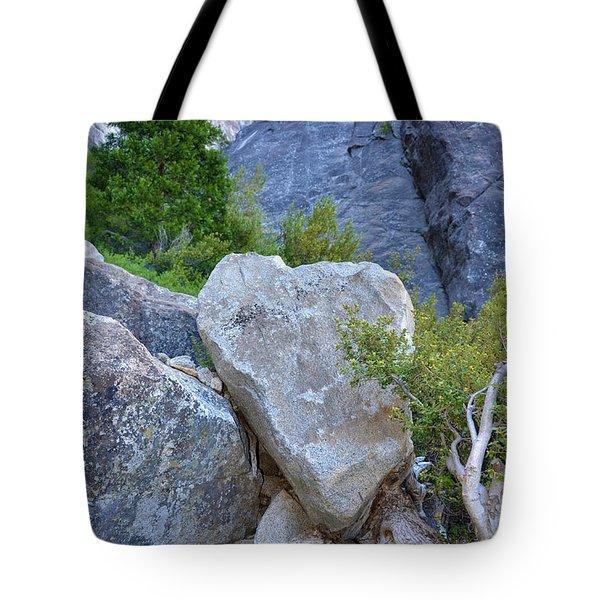 Heart Rock In Yosemite Tote Bag