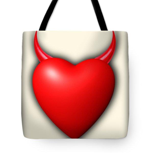 asas del del los corazón cuernos La cuernos bolsa de rojo de serie diablo los ama de la n4xSv6