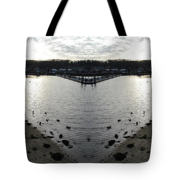 Heart  Shape In The Harbor Tote Bag