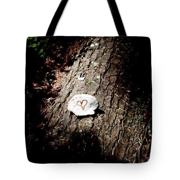 Heart Shape Stop Tote Bag