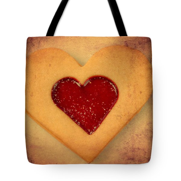 Heart Shaped Cookie With Texture Tote Bag by Matthias Hauser