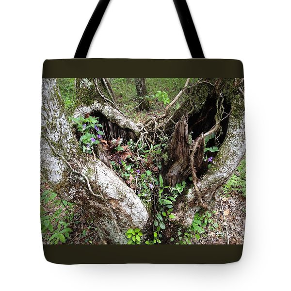 Heart-shaped Tree Tote Bag by Jan Dappen