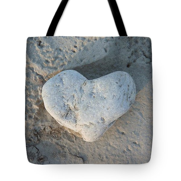Heart Stone Photography Tote Bag by Rachel Stribbling
