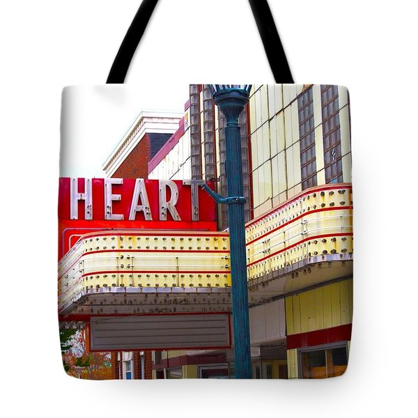 Heart Theatre Effingham Illinois  Tote Bag