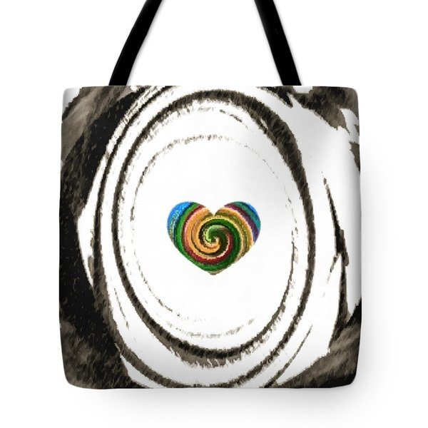 Tote Bag featuring the digital art Heart Within by Catherine Lott