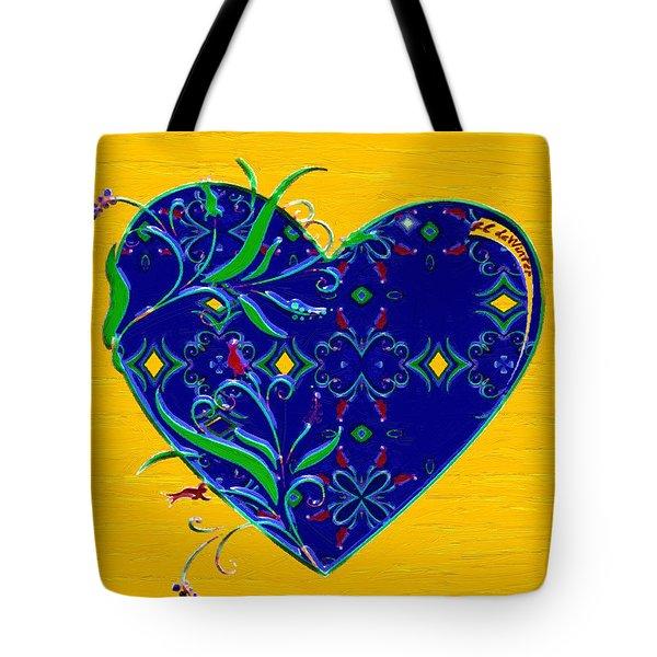 Heartbloom Tote Bag by RC deWinter