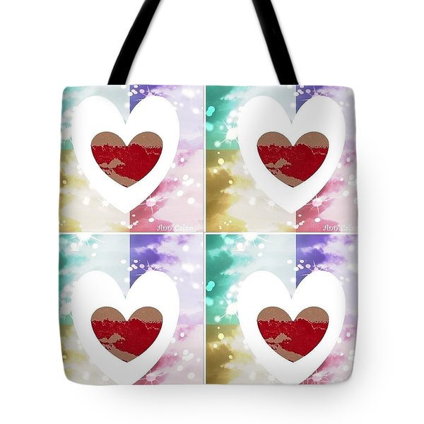 Tote Bag featuring the digital art Heartful by Ann Calvo