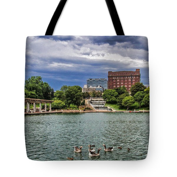 Heartland Of America Park Tote Bag by Elizabeth Winter