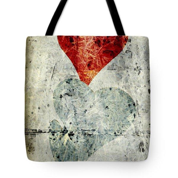 Hearts 1 Tote Bag by Edward Fielding