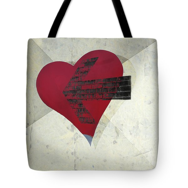 Hearts 7 Square Tote Bag by Edward Fielding