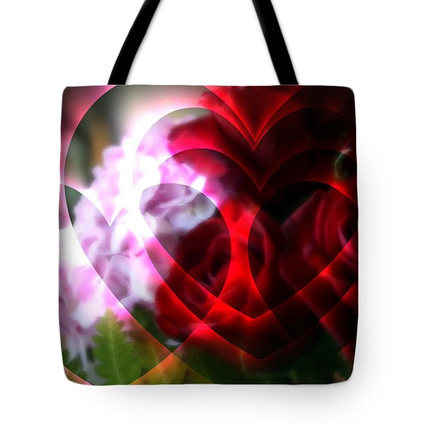 Hearts A Fire Tote Bag by Kay Novy