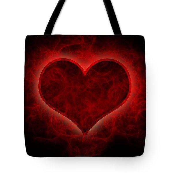 Heart's Afire Tote Bag