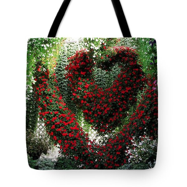 Tote Bag featuring the photograph Hearts And Flowers by Jennifer Wheatley Wolf