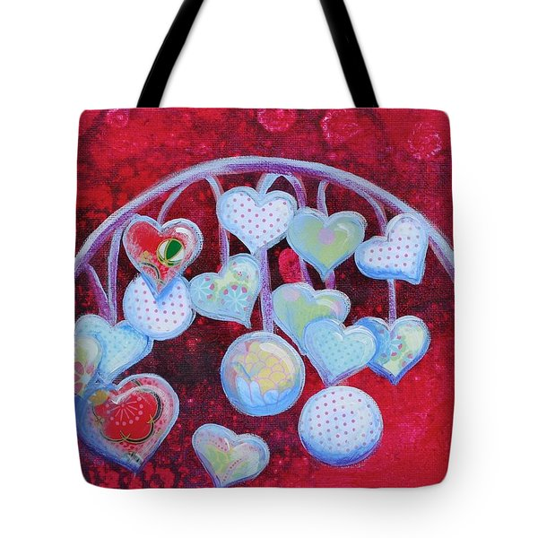 Hearts Don't Grow On Trees Tote Bag