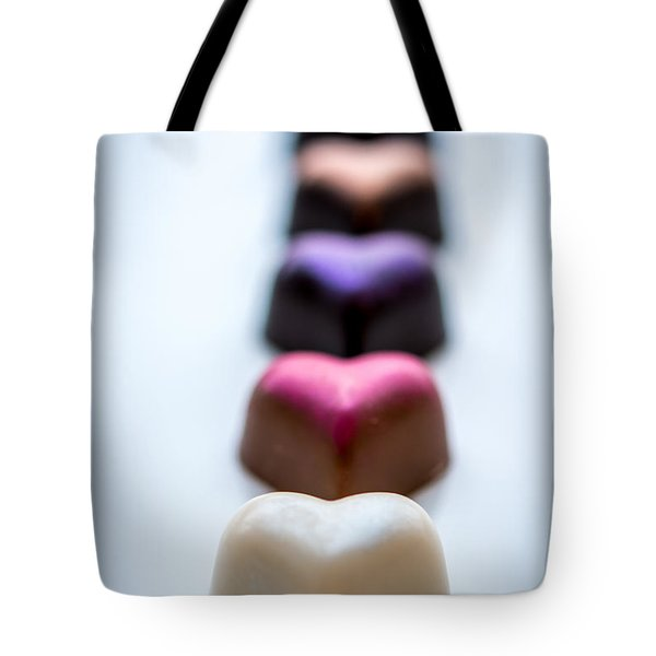 Hearts In A Row - By Sabine Edrissi Tote Bag