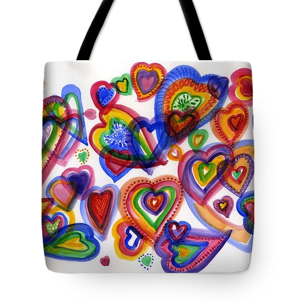 Hearts Of Colour Tote Bag