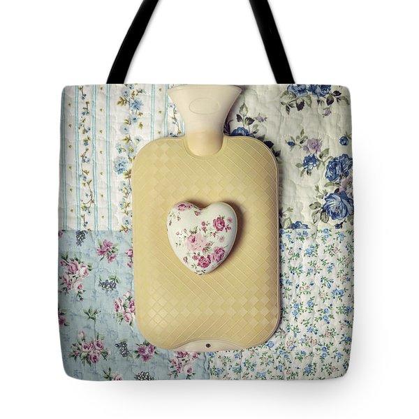 Hearty Hot-water Bottle Tote Bag by Joana Kruse