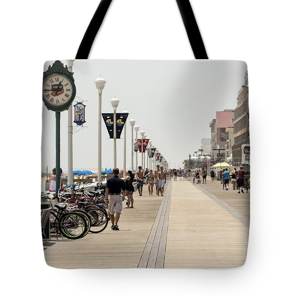 Heat Waves Make The Boardwalk Shimmer In The Distance Tote Bag