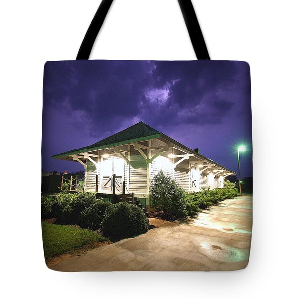 Heath Springs Railroad Depot Tote Bag