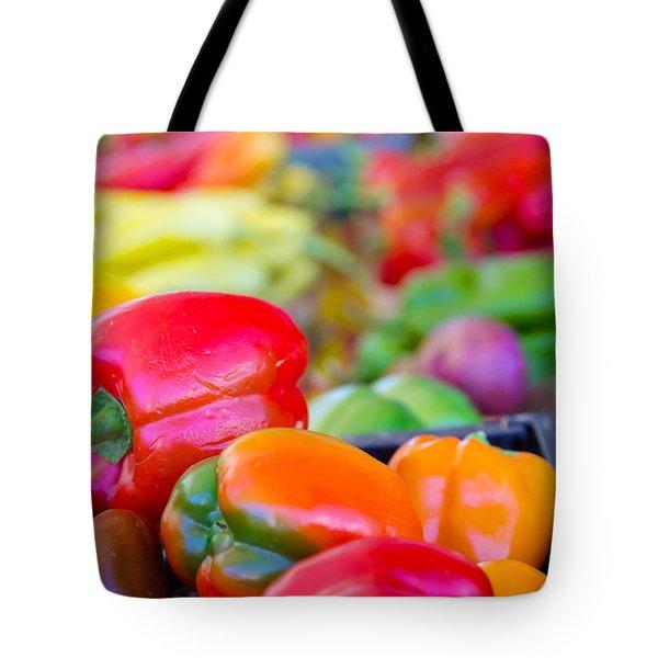 Heatlhy Peppers Tote Bag