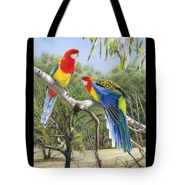Heatwave - Eastern Rosellas Tote Bag