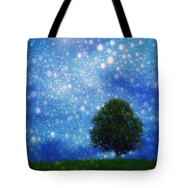 Heaven And Earth Tote Bag by Rory Sagner
