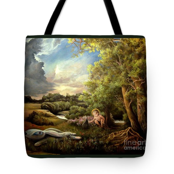 Tote Bag featuring the painting Heaven by Mikhail Savchenko