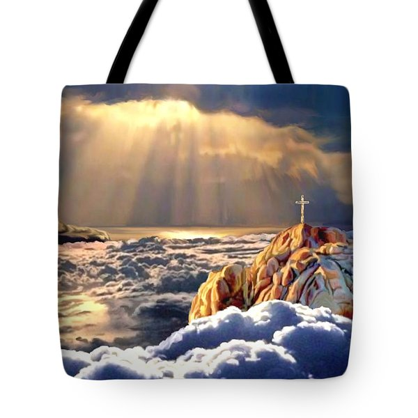 Heavenly Ascension Tote Bag by Ron Chambers