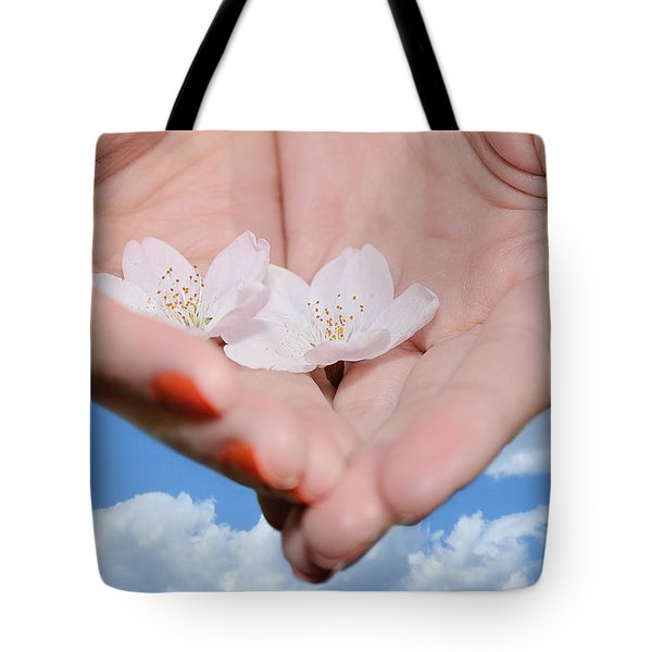 Heavenly Blossoms Tote Bag by Lisa Knechtel