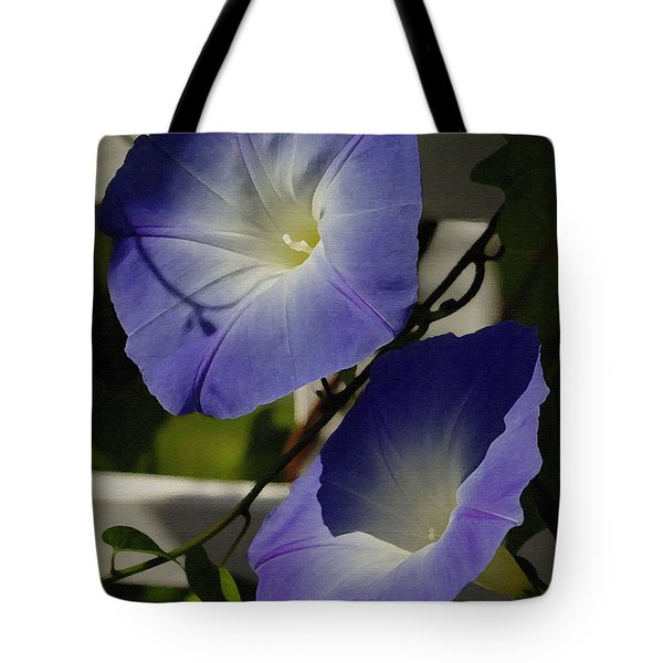 Tote Bag featuring the photograph Heavenly Blue Morning Glory by James C Thomas