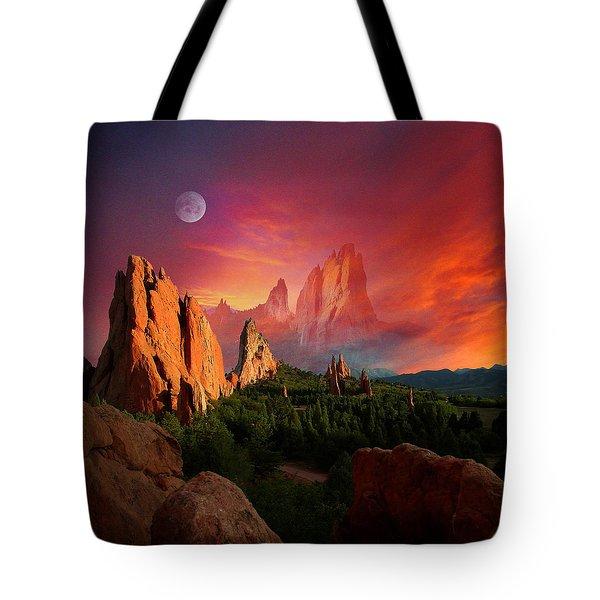 Heavenly Garden Tote Bag by John Hoffman