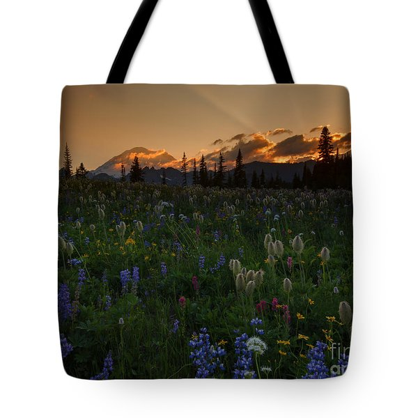 Heavenly Garden Tote Bag by Mike  Dawson