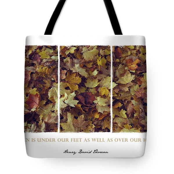 Heavenly Leaves Triptych Tote Bag