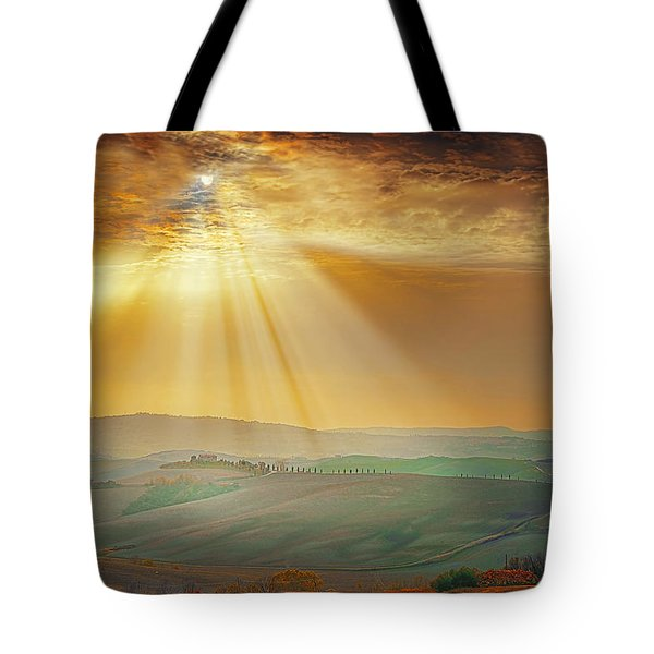 Heavenly Rays Tote Bag by Midori Chan