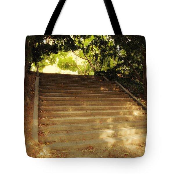 Heavenly Stairway Tote Bag by Madeline Ellis