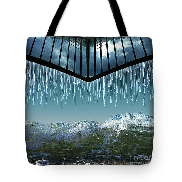 Tote Bag featuring the digital art Heavens Crying by Rosa Cobos