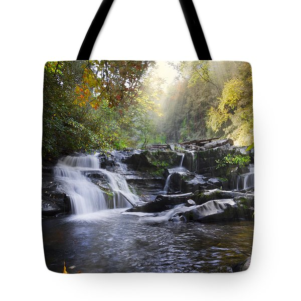 Heaven's Light Tote Bag by Debra and Dave Vanderlaan