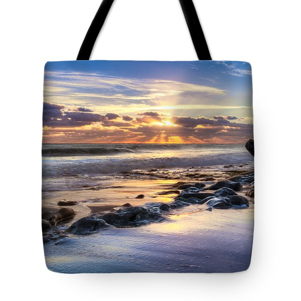 Heaven's Lights Tote Bag by Debra and Dave Vanderlaan