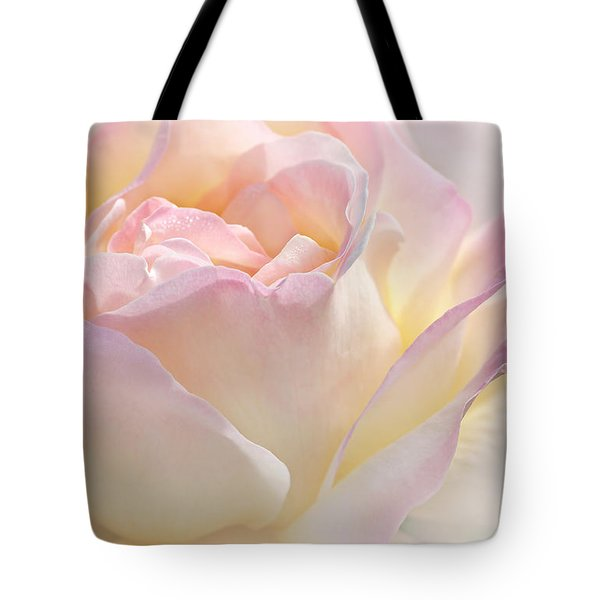 Heaven's Pink Rose Flower Tote Bag by Jennie Marie Schell