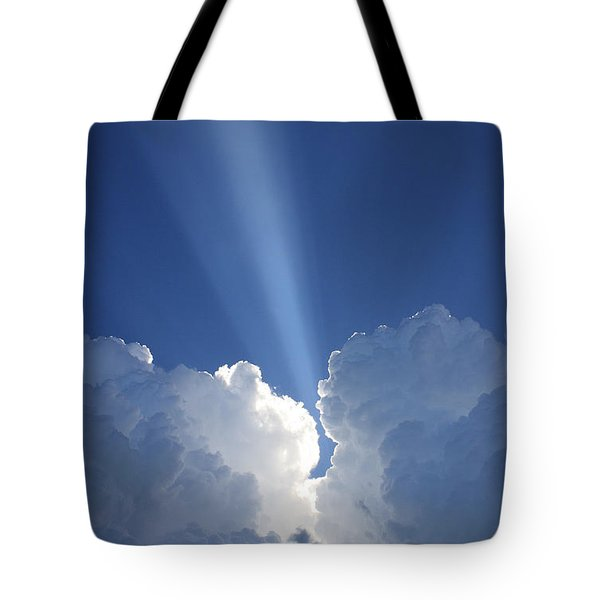 Heaven's Spotlight Tote Bag by Rachel Hames