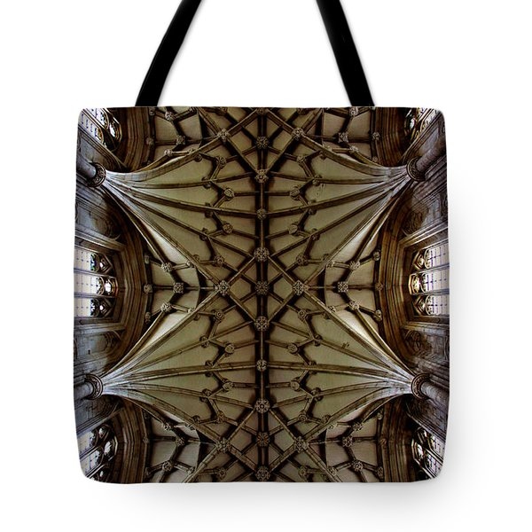 Heavenward -- Winchester Cathedral Ceiling Tote Bag by Stephen Stookey