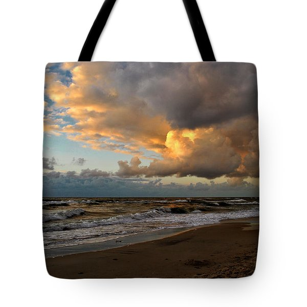 Heavy Clouds Over Baltic Sea Tote Bag