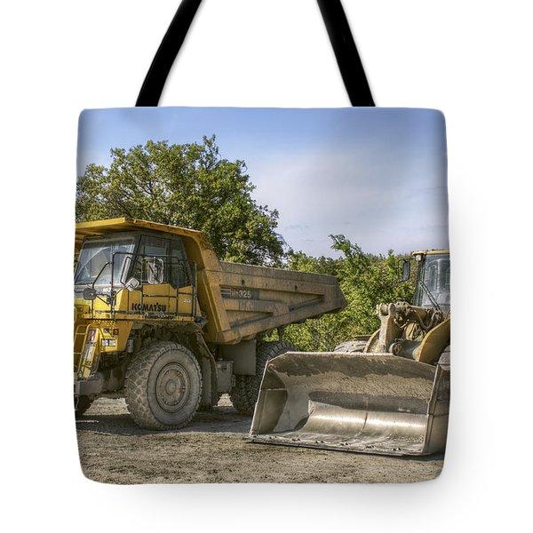 Heavy Equipment - Komatsu - Cat Tote Bag