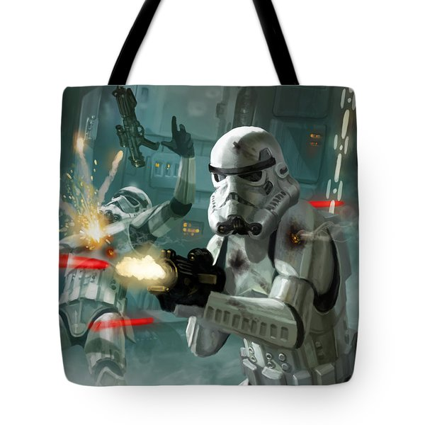 Heavy Storm Trooper - Star Wars The Card Game Tote Bag