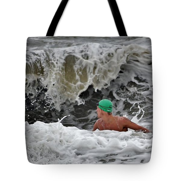 Heavy Surf - Lifeguard Competition Tote Bag by Kim Bemis